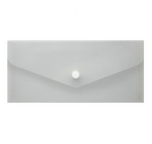 Папка-конверт на кнопці євроформат ПРОЗОРА