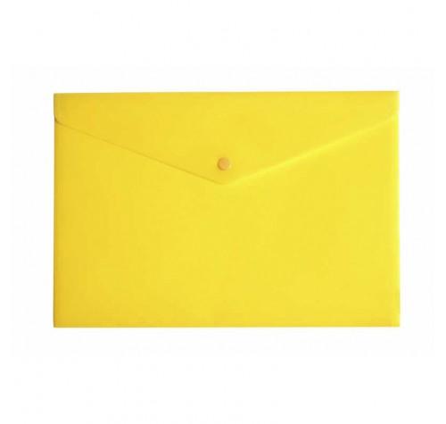 Папка-конверт на кнопці А4 ЖОВТА
