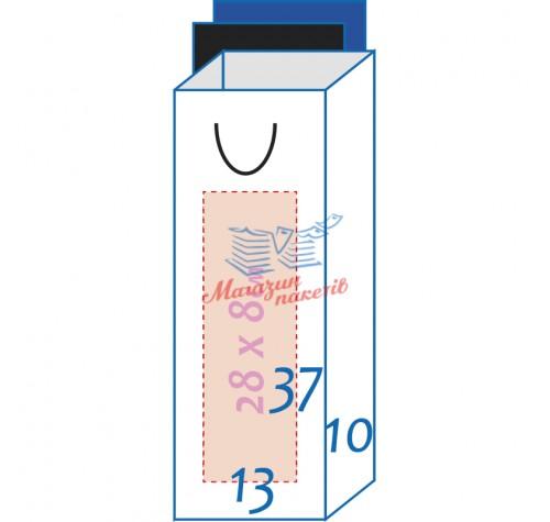 Пакет ламінований 13х37х10,5см ЧОРНИЙ