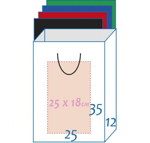 Пакет ламінований 25х35х9см БІЛИЙ