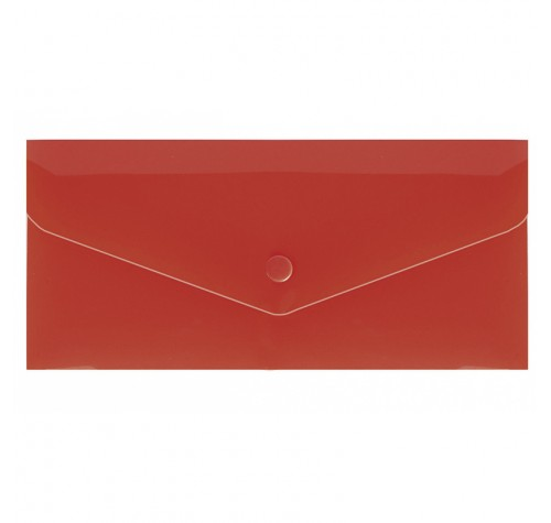 Папка-конверт на кнопці євроформат ЧЕРВОНА