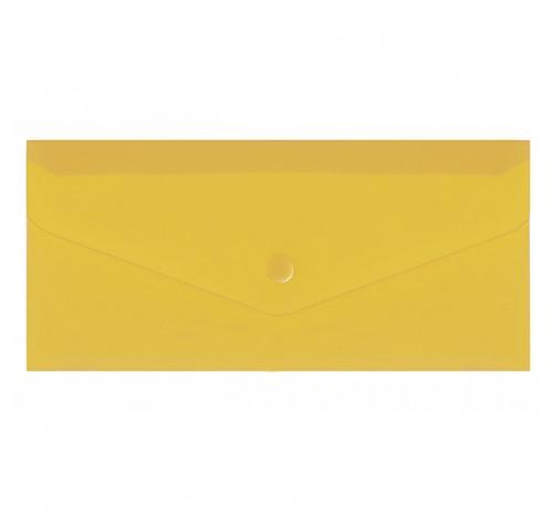 Папка-конверт на кнопці євроформат ЖОВТА