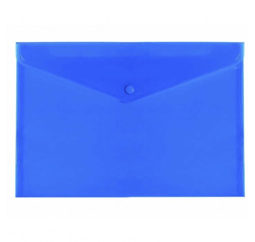 Папка-конверт на кнопці А4 СИНЯ