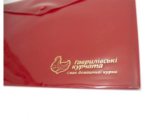 Папка-конверт на кнопці А4 ЗЕЛЕНА