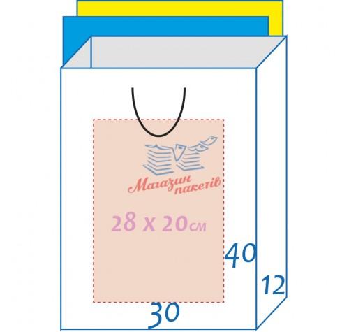 Пакет ламінований 30х40х12см БІЛИЙ