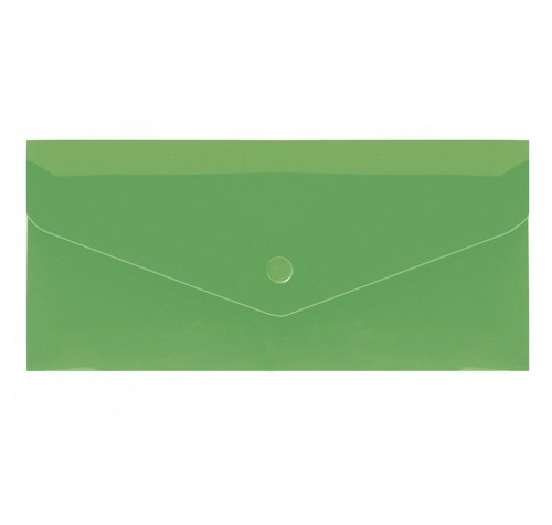 Папка-конверт на кнопці євроформат ЗЕЛЕНА